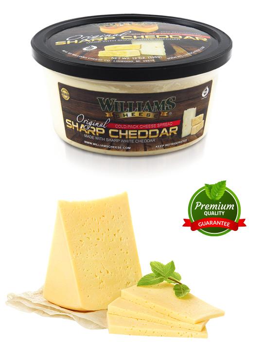 original sharp white cheddar spread 12 oz william s cheese