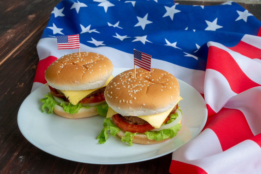independence day cheese burger